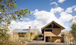 Continental Divide - Colorado  Modern Mountain Home Garage and Exterior