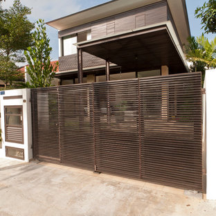 Design ideas for a modern house exterior in Singapore.