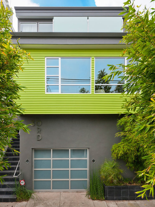 Lime Green House Houzz