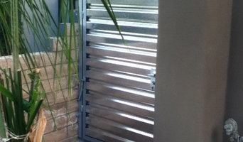 Corrugated metal fence (Palm Springs Style)