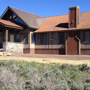 Rustic brown metal exterior home idea in Phoenix