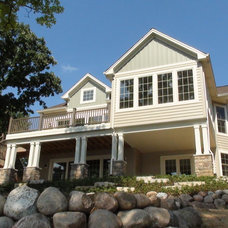 Traditional Exterior by CL Design-Build, Inc.