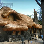 False Thatched Roof Eclectic Exterior Minneapolis