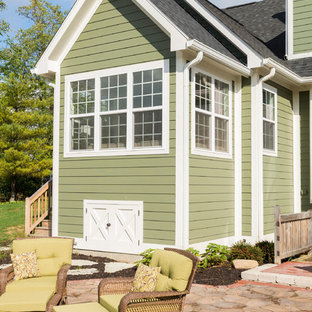 Example of a transitional exterior home design in Indianapolis