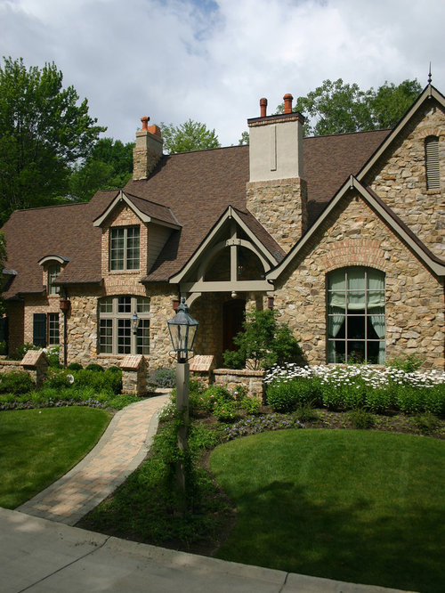 Gable trim home design ideas pictures remodel and decor for French country exterior design