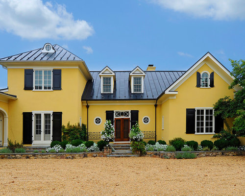 Yellow Stucco Houzz