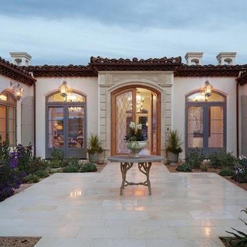 Courtyard Entrance to Rancho Santa Fe Estate Home