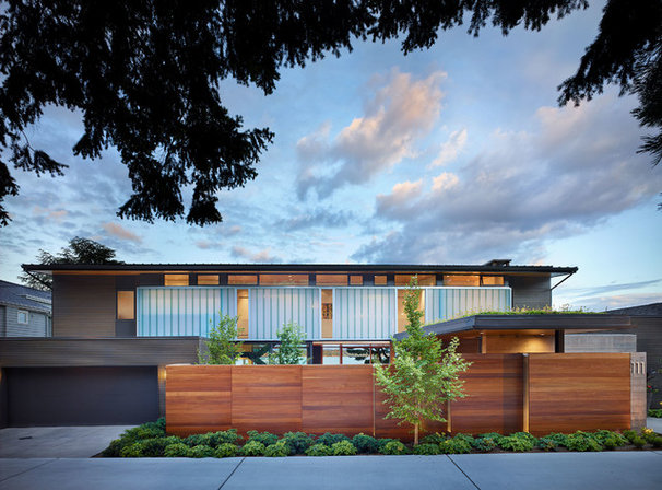 Midcentury Exterior by DeForest Architects