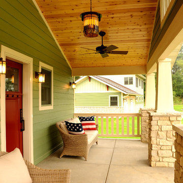 Covered Porch with Tongue & Groove Ceiling