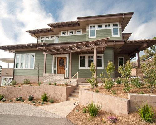 Foto e idee per facciate di case facciata di una casa for Piani artigiano stile ranch casa