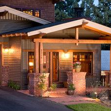 Traditional Exterior by Homeland Design, llc