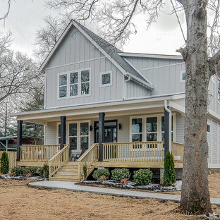 Eclectic two-story exterior home photo in Nashville
