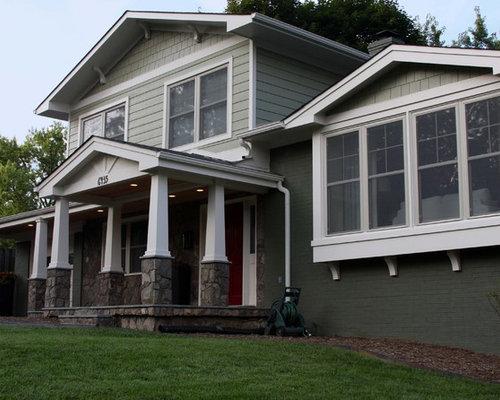 Split level home remodeling remodel house transformed for Craftsman style split level homes
