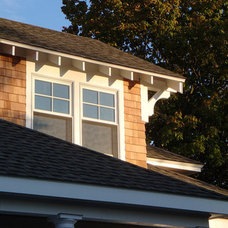 Traditional Exterior Craftsman Exposed Rafters