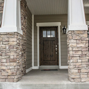 Example of an arts and crafts exterior home design in Salt Lake City