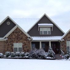 Traditional Exterior Craftsman - first snow