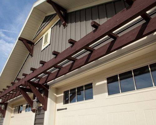 Craftsman one story exterior design ideas remodels photos for Craftsman corbels exterior