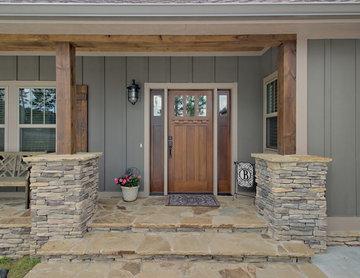 Craftsman Mountain Home: Wood Front Door
