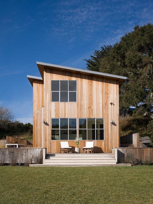 landhausstil h user mit pultdach ideen f r die fassadengestaltung. Black Bedroom Furniture Sets. Home Design Ideas