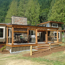 Eclectic Exterior by Creekside Interiors