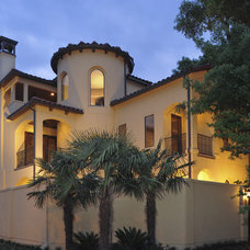 Mediterranean Exterior by Croix Custom Homes