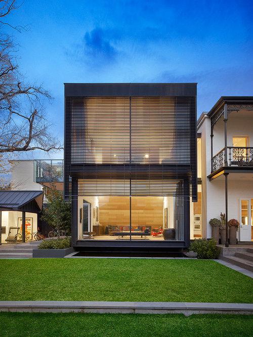 Minimalist facade houzz for Minimalist house facade