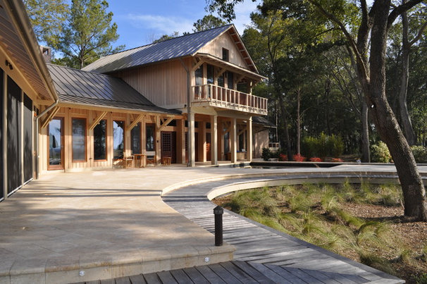 Rustic Exterior by Frederick + Frederick Architects