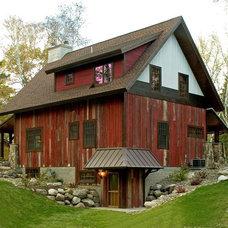 Eclectic Exterior Crosslake Cabin