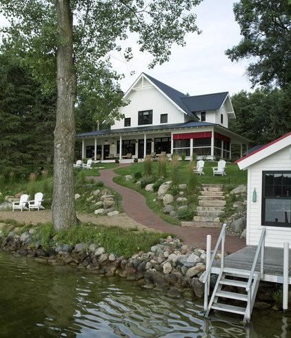 Farmhouse Exterior by Michelle Fries, BeDe Design, LLC