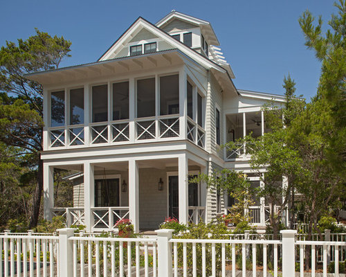Two story deck houzz for Two story deck design pictures