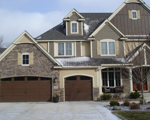 Cultured stone exterior houzz for Exterior ledgestone