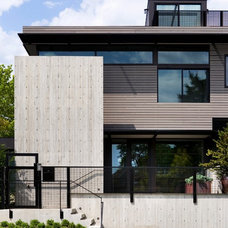 Contemporary Exterior by Thomas Jacobson Construction, Inc