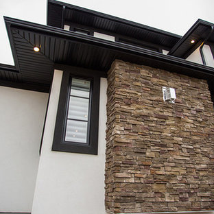 Inspiration for a contemporary exterior home remodel in Other