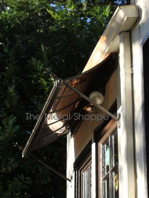 Custom Decorative Copper And Iron Window Awnings