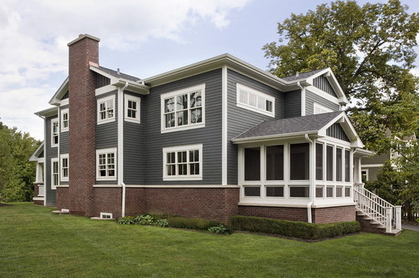 Craftsman Exterior by Great Rooms Designers & Builders