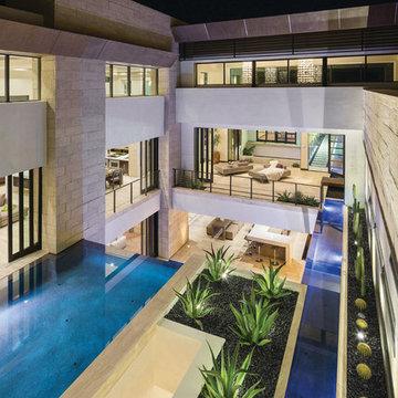 Custom Design - Outdoor Living - New American Home 2013