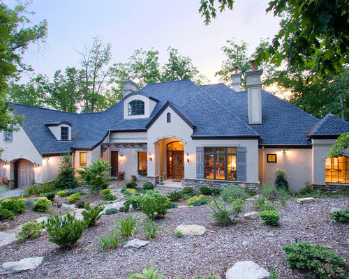 French Country Stucco Home Design Ideas Pictures Remodel