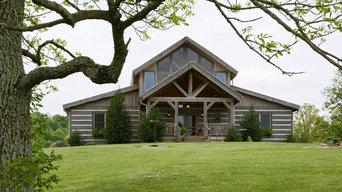 Custom Hand Hewn Log Home