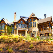 Rustic Exterior by Fairview Builders, LLC