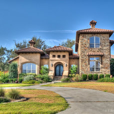 Mediterranean Exterior by J. Bryant Boyd, Design-Build