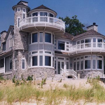 Custom Home Design, Exterior - Rear Lake Front