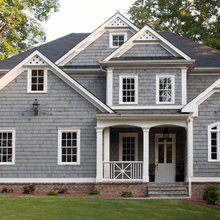 traditional exterior details/ porches and gables