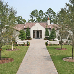 Tuscan one-story exterior home photo in Jacksonville