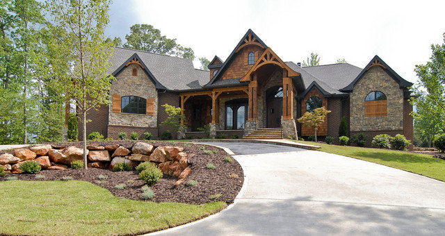 Rustic Exterior by First Choice Custom Homes