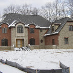 Barn House Stone Veneer Traditional Exterior Dc