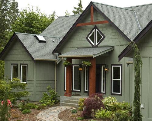 Rustic Green Exterior Design Ideas Remodels Photos