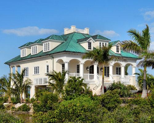 Beach Style Stucco Exterior Home Ideas Design Photos Houzz - Stucco home style