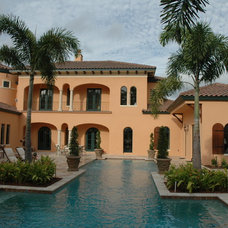 Mediterranean Exterior by Keesee and Associates, Inc.