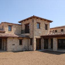 Mediterranean Exterior by Mulvey Custom Builders