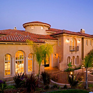 Inspiration for a mediterranean exterior home remodel in Los Angeles